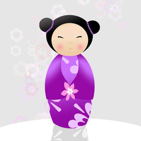 Japanese kokeshi doll photo