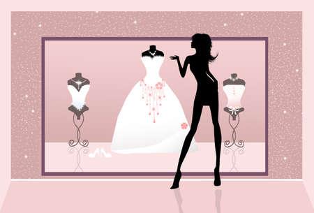 shop of wedding dresses photo