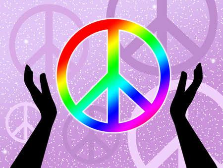 Peace symbol photo