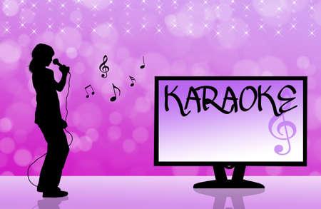 karaoke singer: karaoke