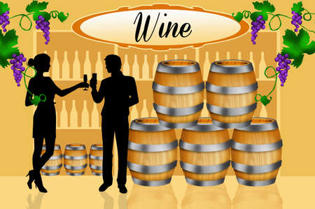 hogshead: wine tasting Stock Photo