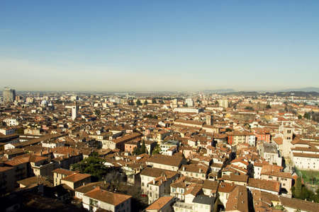 aereal: Aereal view of Brescia city