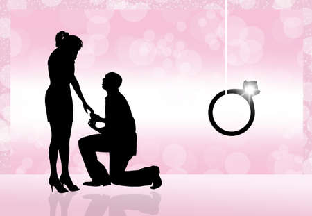Man propose to woman photo