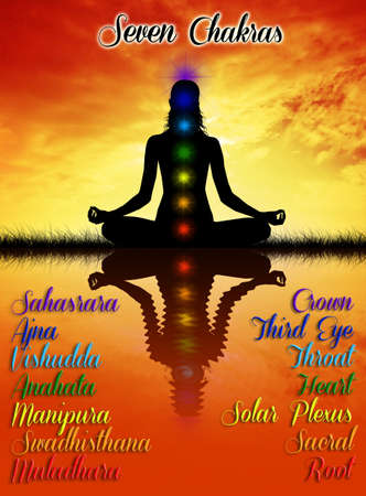 7 Chakras Stock Photo - 19113057