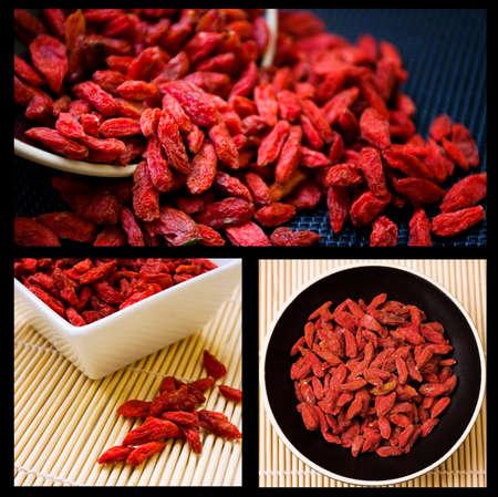 tibet bowls: Goji berries collage