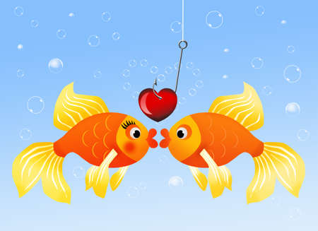 Fish in love photo