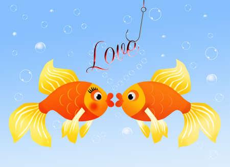 Fish in love Stock Photo - 19267198