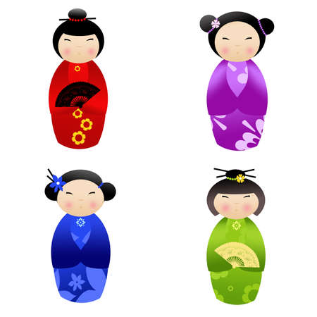 Kokeshi dolls Stock Photo