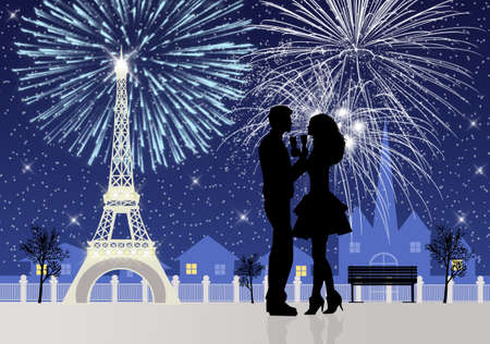 Fireworks in Paris photo