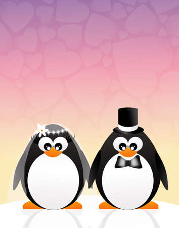 spouses: Penguins in love Stock Photo