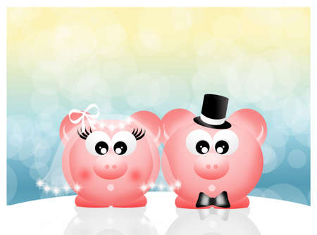 Pigs in love photo