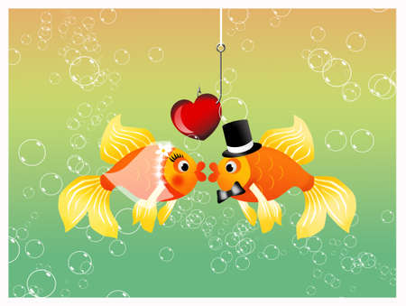 Bride and groom fishes Stock Photo - 19336148