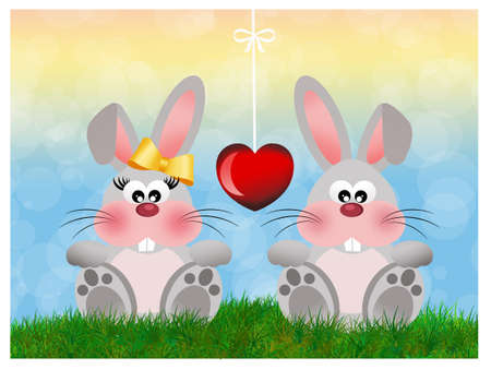 Bunnies in love photo