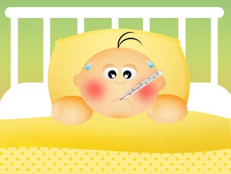 sick kid: Ni�o enfermo