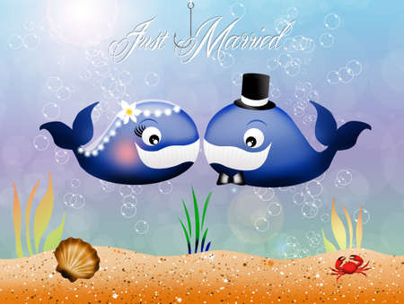 whales in love photo