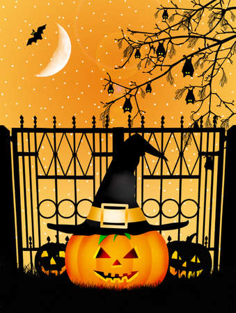 Illustration of Halloween illustration