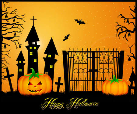 postcard of Halloween