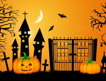 Illustration of Halloween Stock fotó