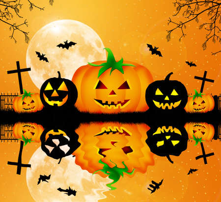 Zucche di Halloween photo