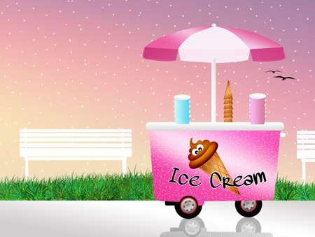 carretto gelati: Ice cream carrello