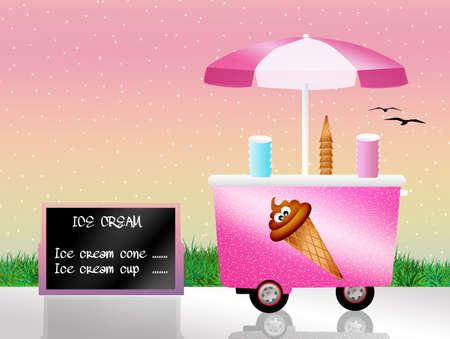 kiddies: Ice cream cart