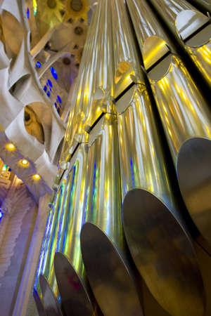 lia: Organ in The Basílica de la Sagrada Família, Barcelona