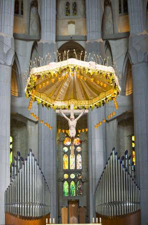 Altar in The Basílica de la Sagrada Família