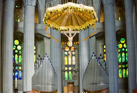 lia: Altar in The Basílica de la Sagrada Família