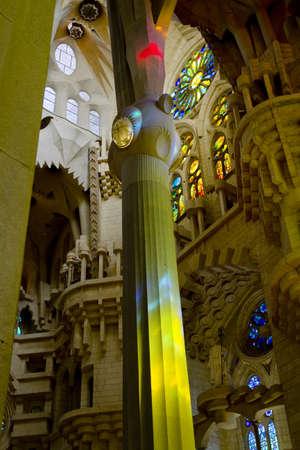 Interior of Sagrada Familia Church