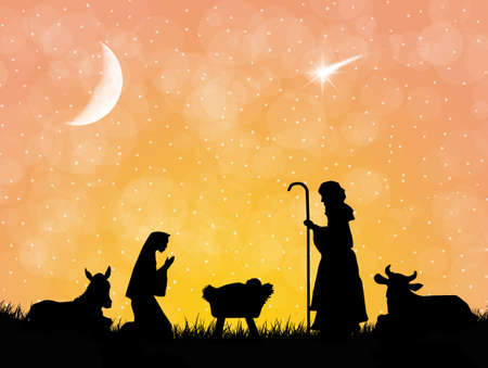 Christmas Nativity Scene Stock Photo - 20327534