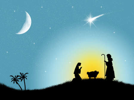 Christmas Nativity Scene Stock Photo - 20327549