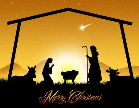 geburt jesu: Frohe Weihnachten