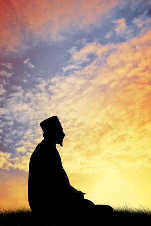 Moslim man gebed