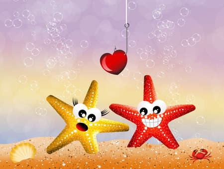 Starfish in the ocean photo