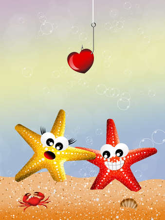 Starfish in love photo