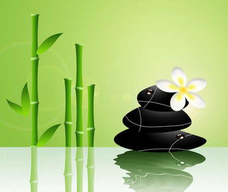 Zen stones and bamboo photo