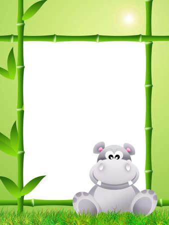 hipopotamo caricatura: Hippo cartoon Foto de archivo
