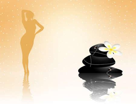 zen stones in wellness spa photo
