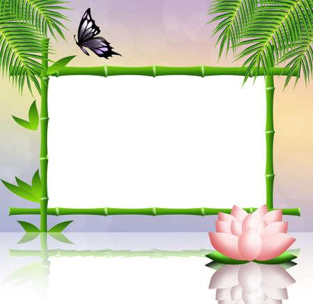Frame bamboo photo
