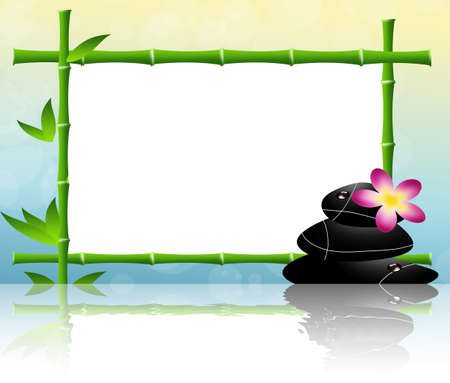 Frame bamboo for spa photo