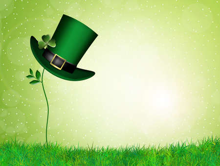 St Patricks hat and clover photo