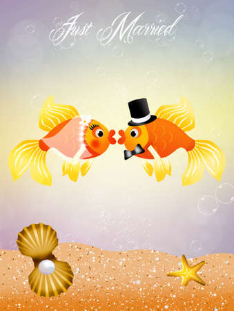 Fishes in love Stock Photo - 20634168