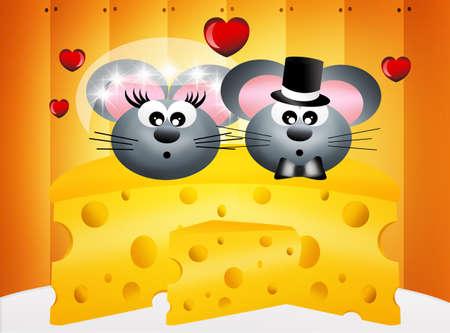 pareja comiendo: La boda de los ratones