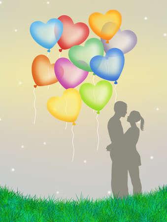 Heart ballons photo