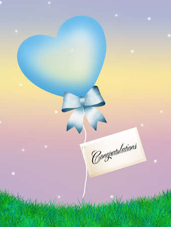 Heart ballons for boy photo