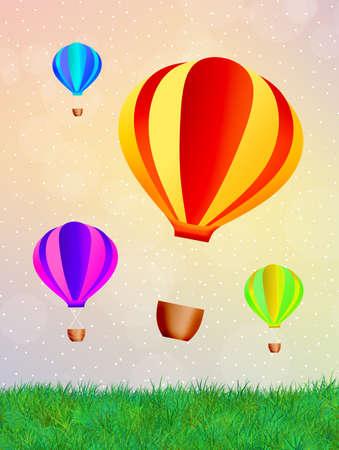 Hot air balloons festival photo