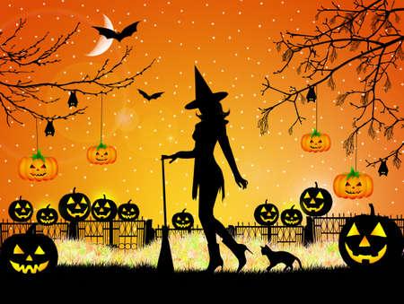 Illustration of Halloween illustration