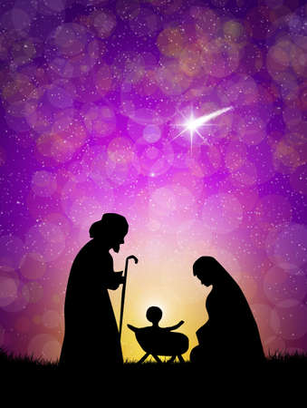 Weihnachten Krippe Standard-Bild - 20852853