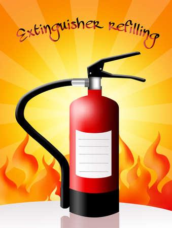 refilling: Extinguisher refilling Stock Photo