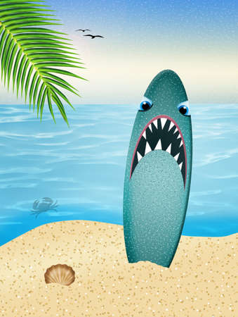 Illustration of surfboard illustration